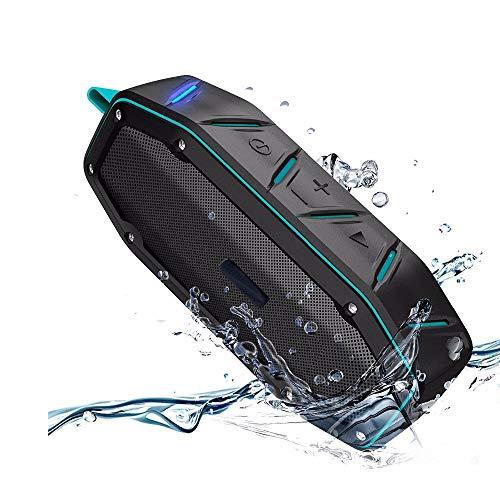 ZUKN Drahtloser Bluetooth-Lautsprecher Wasserdichter tragbarer Lautsprecher 10-W-Lautsprecher Musik Drahtloser Lautsprecher mit TF FM-Freisprecheinrichtung Stereo-Subwoofer Family Outdoor