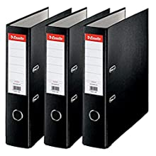 Esselte A4 Lever Arch Files, Black, 3 File Folders 624294