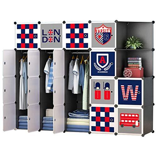 ARMOI Portable Garderobe für hängende Kleidung für Kinder Baby Kombischrank modulare Schrank für...