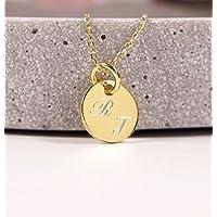 Personalisierte Namenskette, 925er Silberkette vergoldet, Kette mit Gravur - vergoldet