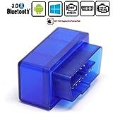 Friencity Bluetooth Auto OBD ii 2 OBD2 Scanner Adapter, Fahrzeug Motor Codeleser für Auto Diagnosescan Tool Check Motor Licht, Kompatibel mit Android & Windows Geräte, NICHT für IOS