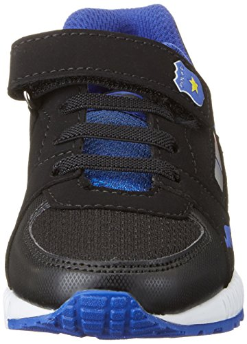 KangaROOS Unisex-Kinder Uk Iv Low-Top Mehrfarbig (Black/electric Blue)