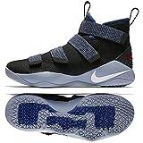 NIKE Lebron Soldier XI 897644 005 Black/White/Deep Royal Blue Men's Basketball Shoes (10)