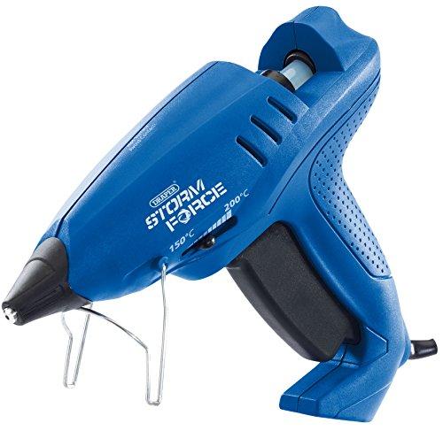 Draper 83661 Storm Force variable de la chaleur Pistolet à colle avec 6 Bâtonnets de colle (400 W), bleu