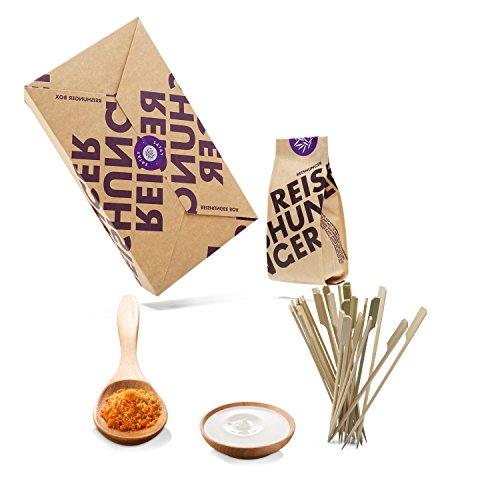 Reishunger Erdnuss Satay Box - Original Zutaten bester Qualität - Für bis zu 4 Personen - Ideal als Geschenk (3er Vorteilspack)