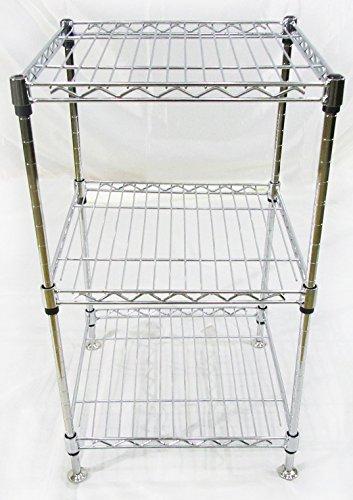 Scaffali In Metallo Cromato.Bricoidea Mini Scaffale In Metallo Cromato Con Tre Ripiani 44x44cm