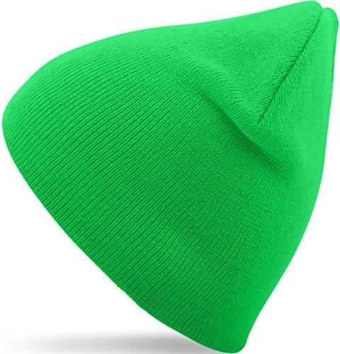 Wintermütze / Beanie für Damen & Herren in 27 verschiedenen Farben (9) (Grün) (Mint Grün Beanie)