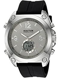 451ff93134f Kenneth Cole Reaction Men s Analog-Digital Quartz Watch with Rubber Strap  RKC0169003