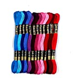Anchor Stranded Cotton Assorted Skeins Fast Color Set - (50 x 8m Skeins, Pony Scissor 90mm)