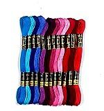Anchor Stranded Cotton Assorted Skeins Fast Color Set - (50 x 8m Skeins, Pony Scissor 90mm)