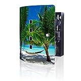 banjado Design Schlüsselkasten aus Edelstahl | 10 Haken für Schlüssel | praktischer Magnetverschluss | 24cm x 21,5cm Motiv Strand