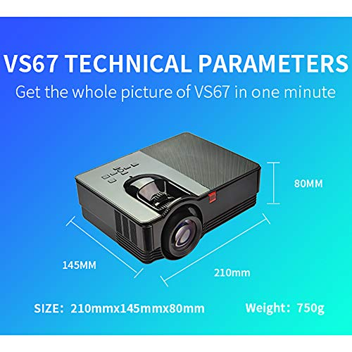 Led Red and Blue 3D Projector 1800 Lumens Household HD Projector 1080P Home Theater  Children s Early Education Machine  WiFi Support