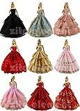 ZITA ELEMENT® Lot 6PZ Principessa Abito da Sera Sposa Festa Vestiti Vestito Nuziale Scelti a Caso Per Barbie Bambole Abiti Dolls Clothes