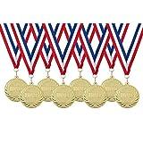 Medailles met lint kinderfeestje winnaars - 8 stuks - Ø 5cm - van metaal!