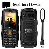VKworld V3 téléphones portables débloqués,IP68 imperméable à l'eau, antipoussière, résistant aux chutes, Carte mémoire 8GB, grande batterie 3000mAh, Tri-Sim, grosses touches, torche forte, Powerbank