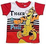 Winnie the Pooh und Tigger T-Shirt Jungen Neu Kurz (68-74, Rot)