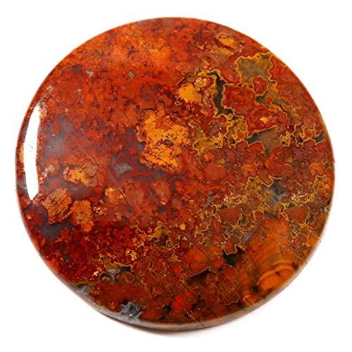 Gems & JewelsHub JA79 ungarischer Achat runder Cabochon natürlicher Loser Edelstein 59,25 ct - 59.25