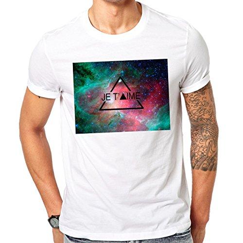 Illuminati Triangle Art Majestic Je T'Aime Herren T-Shirt Weiß