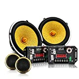 LIDAUTO Professionelle Auto Lautsprecher 6,5 Zoll Lautsprecher Zwei-Weg Hochtöner Tieftöner 80-160 watt Audio Lautsprecher für Auto