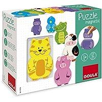 Goula Puzzles de jueguete de madera intercambiables - Peluches y Puzzles precios baratos