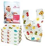 Duni Duniwell Einmal-Babylätzchen Kinder Lätzchen Servietten mit Auffangschutz (10 Stück)