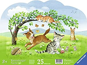 Ravensburger Puzzle 06118–Palazzo Int Animales Niños 25piezas contornos Marco Puzzle