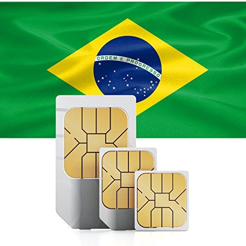 Brasilien 3GB Prepaid Daten SIM Karte - mit 3GB mobiles Internet für 30 Tage - Brasilien Band