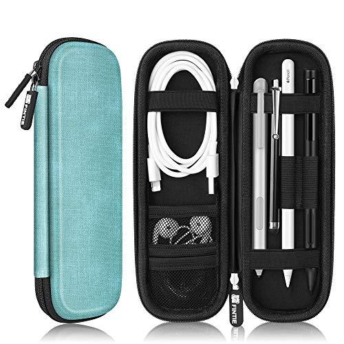 Fintie Hülle für Apple Pencil (1. / 2. Generation) - Kunstleder Stiftschlaufe Schutzhülle mit integriertem Ablagefach und Halter für iPad Pro 11 12,9 10,5, iPad 6. Gen 2018 Pencil, Jeansoptik Türkis 1. Generation Von Apple