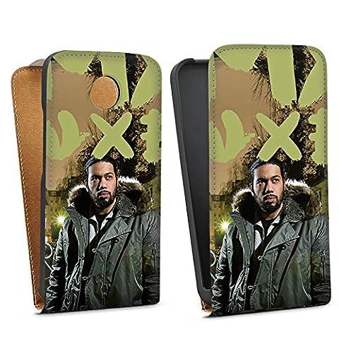 Motorola Moto X 2 Generation Downflip Bag Tasche white - Samy Deluxe - Dis wo ich herkomm Cover Skin