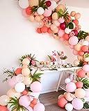 PuTwo Luftballons, 100 Stück Magenta Luftballons Ballon Creme Ballon Champagner Luftballons Blush Ballon Pfirsich Luftballons Rosa für Deko Geburtstag, Hochzeit Deko, Baby Party, Baby Shower Mädchen