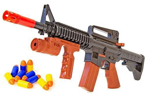 Kinder Sturm Kostüm - Nerd Clear Gewehr Sturm-Gewehr Militär frei ab 3 Jahren robust Pfeil-Gewehr Kostüm