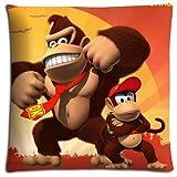 Kissen Displayschutzfolie Donkey Kong Country Überwurf passt Kissenbezug Fall Reißverschluss Polyester/Baumwolle 40,6x 40,6cm 40x 40cm