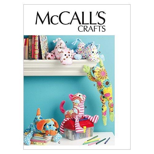 McCall's, Cartamodelli per Animali di pezza (Cane, Gatto, Cavallo, rospo, Ippopotamo), Istruzioni in Inglese