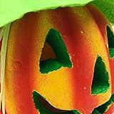 BESTOYARD Halloween Kürbis Laterne Jack-o-Laterne Dekoration Scary Modell mit batteriebetriebenen Figur Statue Spukhaus Dekoration - 5