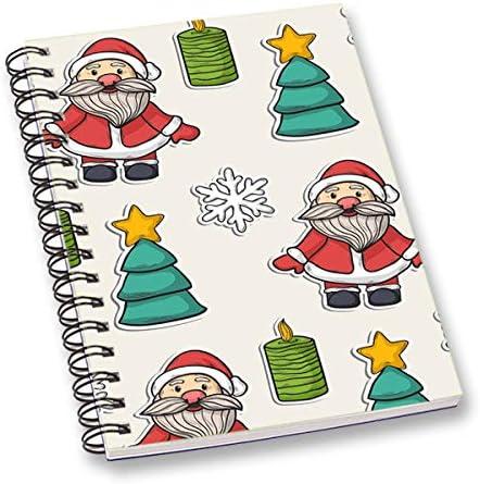 RADANYA Bloc-Notes Journal De Papier Stratifié Imprimé Numériquement De Noël Blanc Pour Bureau, École, Papeterie   Larges Variétés