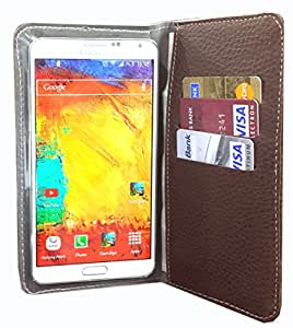 nKarta ™ Color Brown Jelly Wallet Pouch in Soft Inner Fiber Mobile Cover Case with Card holder Slots for Intex Aqua Q7 Pro