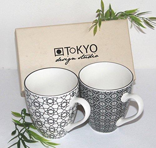 051 Tee (AAF Nommel ® Teetasse Tee- oder Kaffeebecher 2 er Set Tokyo Design Japan Porzellan im Geschenkkarton, Nr. 051)