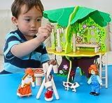 Toys of Wood Oxford Hölzernes Puppenhaus Hölzernes Baumhaus mit Möbeln - Puppenhaus und Zubehör für Rollenspiele - Holzbauspielzeug und Spielzeugbau für 3 4 5 jährige Kinder Jungen Mädchen