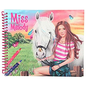 Top Model Dress up Your Horse cuaderna para Colorear Miss Melody (0010441), Multicolor (DEPESCHE 1)