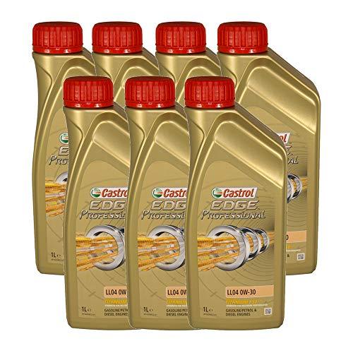 Castrol EDGE Professional Longlife 04 0W30 - Olio per Auto, Lubrificante a Lunga Durata Titanium 0W-30 7 Litri