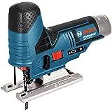Bosch Professional Akku Stichsäge GST 12V-70 (ohne Akku, 2x Sägeblatt, Gleitschuh, Spanreißschutz, Koffer, Schnitttiefe in Holz: 70 mm, 12 Volt)