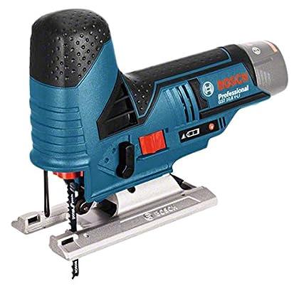 BOSCH 06015A1002 - Sierra de calar a batería GST 12V-70 Professional. 12 V. 1.500-2.800 cpm. Profundidade máx. de corte en madera: 70 mm. Longit ud de carrera: 18 mm. 1,5 Kg con L-BOXX 102.