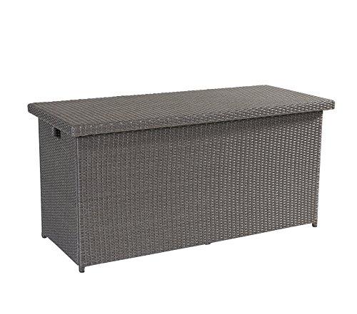 Auflagenbox Barcelona Grau Mix 152x68cm Kissenbox Gartentruhe Wholesaler 148230 für Ihre Terrasse...