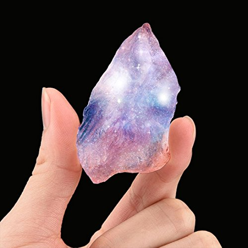 Crystal Körper Natürliche (HKFV Kristallstein Natürlicher unregelmäßiger Kristallquarz-heilender Fluorit-Stab-Steinrosa-Edelstein Natürlicher rosa rauer Kristallstein (Pink -A))