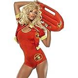 Disfraz de vigilante de la playa traje carnaval salvavidas Pamela