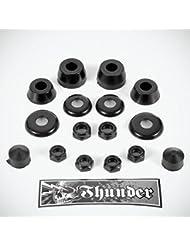 Thunder Rebuild Kit Bushings Washers Axel And Kingpin Nuts Pivot Cup 100a Black O/S