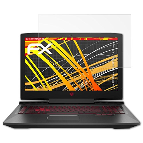 atFolix Schutzfolie kompatibel mit HP Omen 17-an034ng 17,3 inch Bildschirmschutzfolie, HD-Entspiegelung FX Folie (2X)
