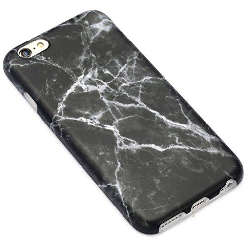 Schutzhülle für Apple iPhone 6 / 6S [Marmor / Marble] Design - Hard case cover Viele Varianten (Weiß - Marble) von Panelize C. & A. Schwarz 2