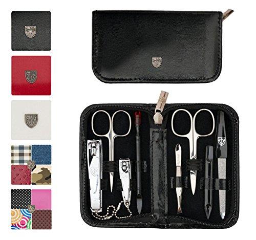 Drei Schwerter - Exklusives 8-teiliges Maniküre - Pediküre - Nagelpflege-Set / Etui - Qualität - Made in Solingen (521309)