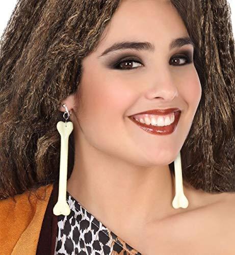 Kostüm Zubehör Cavewoman - Fancy Me Damen Knochen Ohrringe Cavewoman Höhle Mädchen Karneval Junggesellinnenabschied Historisch Kostüm Outfit Schmuck Zubehör